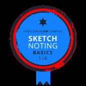 Sketchnoting Basics Badge 1/4