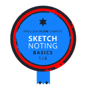 Sketchnoting Basics Badge 1/4