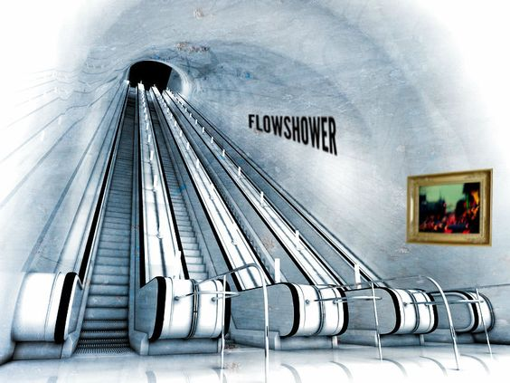 Rolltreppe zum FlowShower